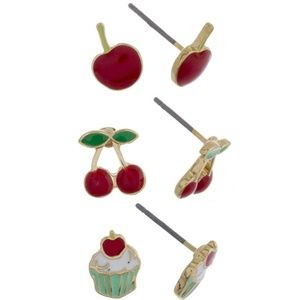 Jewelry - Cherry Earring Set